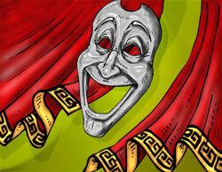 Laughing-mask