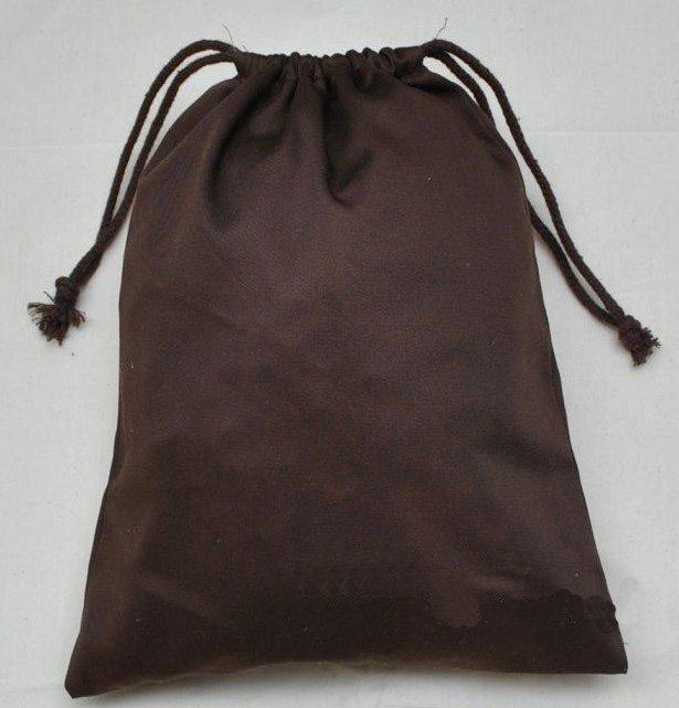 Image - Pl205789-custom foldable cotton cloth drawstring bag brown ...