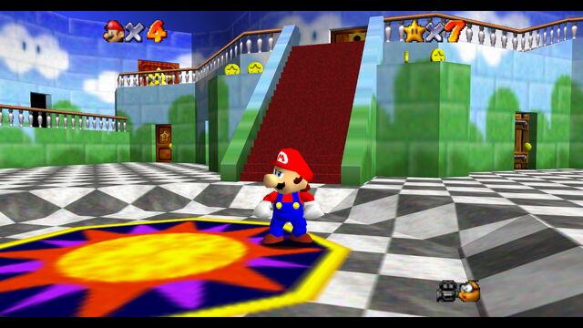 File:Princess Peach's Castle Inside SM64.jpg