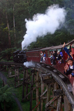 Puffing billy in action 2003