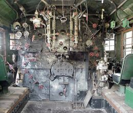 Steam Locomotive Cab view