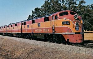 Southern Pacific Shasta Daylight circa 1949