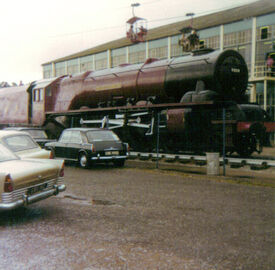 6229 Duchess of Hamilton steam locomotive Butlins Holiday Camp Minehead 14 August 1974