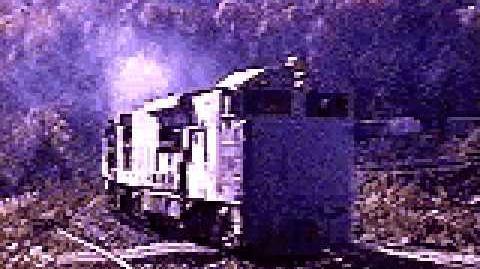 A U50C leads a EL freight train in Pond Eddy, PA
