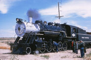 Great Western RR 8 - Jul 27 1958 - 2 10 0 no. 90 on RMRRC excursion Eaton CO-L