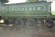 Tender of the locomotive