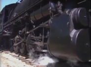 The wheels of the locomotive
