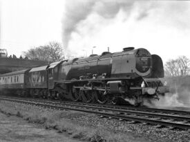 46229 DUCHESS OF HAMILTON at Long Preston station (2)