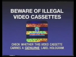 Warner Home Video Piracy Warning (1993) Hologram