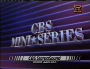 CBS Miniseries 1987 with CBS StereoSound and CC