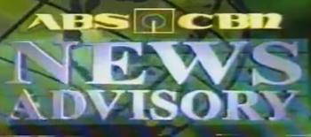 ABS-CBN News Advisory 1998