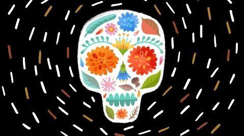Día de los muertos 2014 Doodle (Day of the Dead 2014 Doodle)