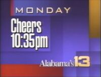 WVTM-TV Alabama's 13 Cheers promo 1992