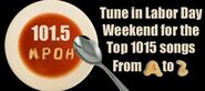 WPDH-FM's 101.5's The Top 1015 Songs From A To Z Promo For Labor Day Weekend 2012