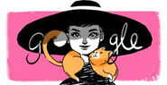 Google Audrey Hepburn's 85th Birthday (Version 4)
