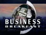 BBC-TV's BBC News' Business Breakfast Video Open From Monday Morning, March 8, 1993