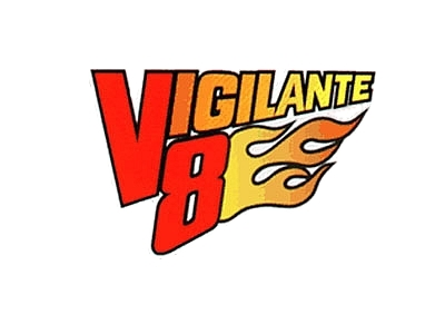 Vigilante 8 logo white