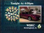 WBRC Channel 6 Wheel of Fortune promo 1988