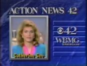 WBMG Action News 42 Catherine Gee promo 1990