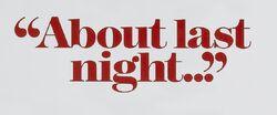 About Last Night 1986 movie logo