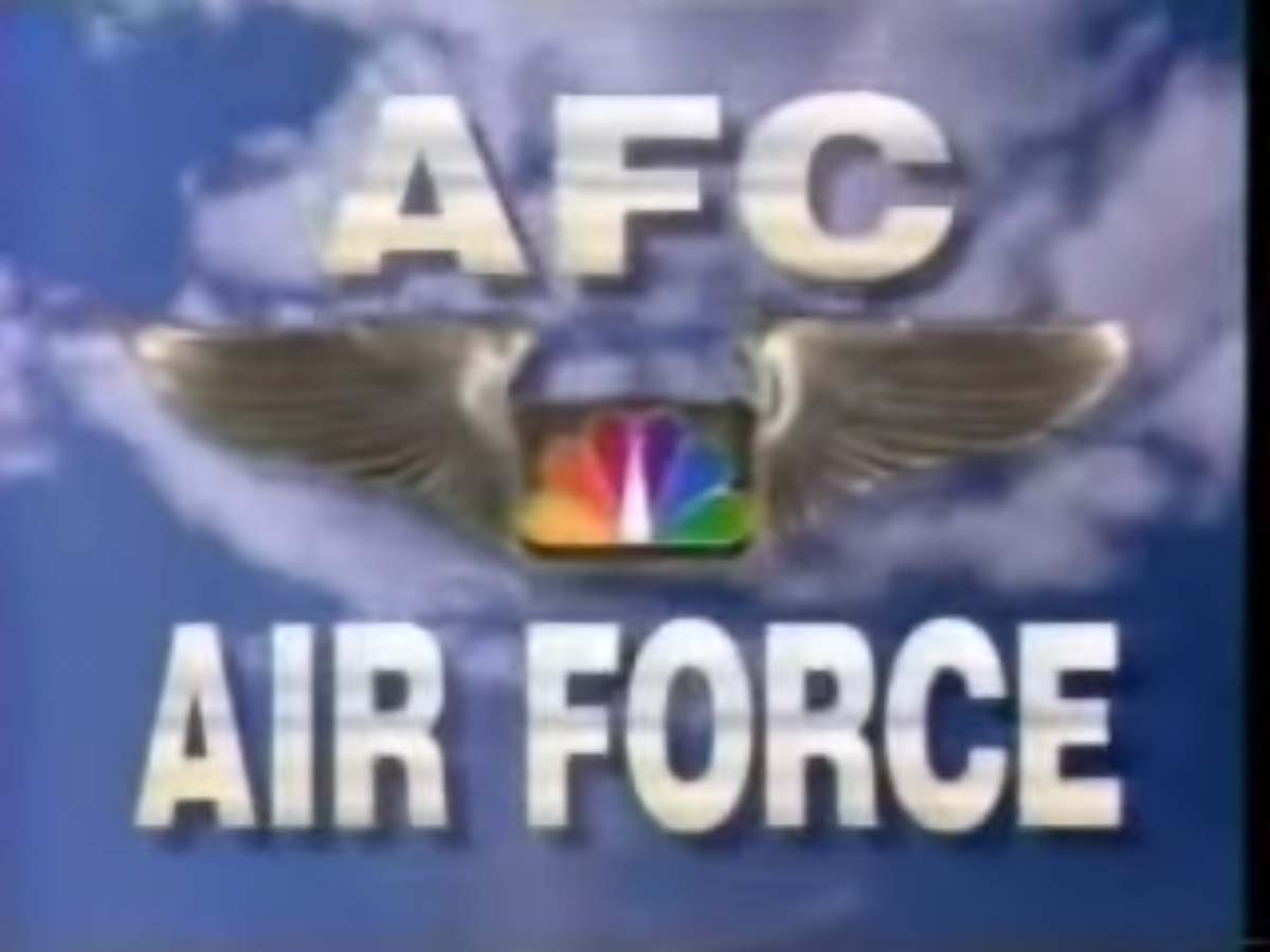 NBC Sports' NFL On NBC's Nothing's More American -- AFC Air Force Video Promo For Fall 1994