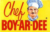 Chef Boy-ar-dee 60s
