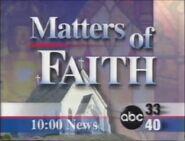 Alabama's ABC 33-40 Matters of Faith promo in 1997