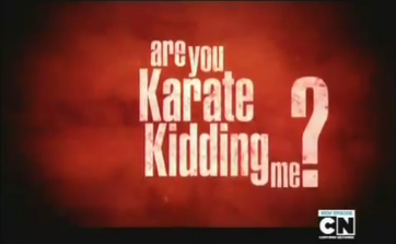 Ar You Karate Kidding Me Opening Title
