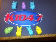 WSPK-FM's K104's Happy Easter Logo From April 2011