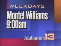 WVTM-TV Alabama's 13 Montel Williams promo 1992