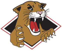 Prince George Cougars logo (introduced 1996)