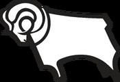 Derby County FC logo (ram only, black outline, faces left)