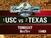 ABC Sports' Rose Bowl Game - 2006 National Championship, USC Vs. Texas Video Promo For Wednesday Night, January 4, 2006