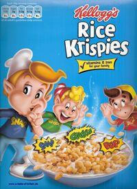 Kelloggs rice krispies with logo
