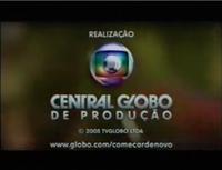 Começar de Novo seal short Globo 2005 logo 2005