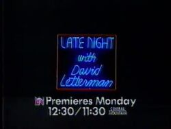 Late Night with David Letterman promo still