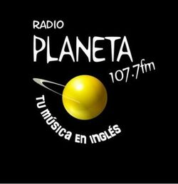 Radio Planeta 107.7 FM Logo Actual