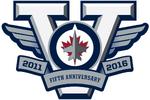 Winnipeg Jets logo (5th anniversary)