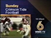 WBRC-TV Channel 6 promo Crimson Tide Football 1991
