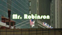 Mr. Robinson Intertitle