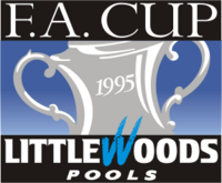 The FA Cup logo (Littlewoods Pools sponsor, 1994-1995)