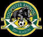 Rochester Rhinos logo (20th anniversary)