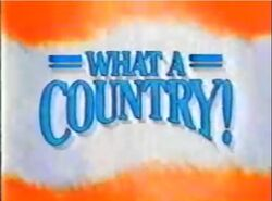 What a Country! promo