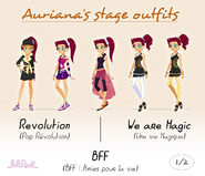 Auriana's stage outfits