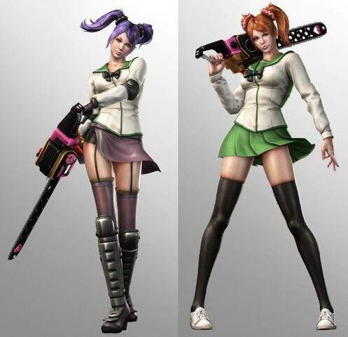 File:Lollipop Chainsaw Skins Saeko Busujima & Rei Miyamoto cosplay (Highschool of the Dead).JPG