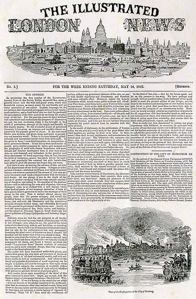 393px-Illustrated London News - front page - first edition