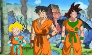 Goku, yamcha, and krillin