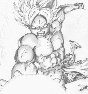 Adult Broku Using Angry Kamehameha