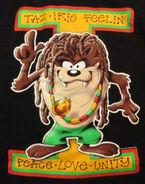 Rasta TAZ Looney Tunes rastafarian T Shirt Tazmanian Devil Mens XL