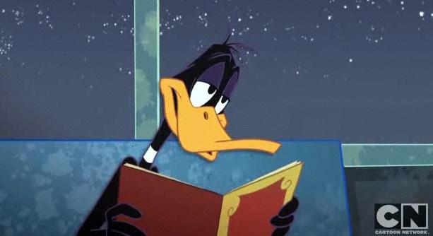 File:Daffy duck Reading.jpg